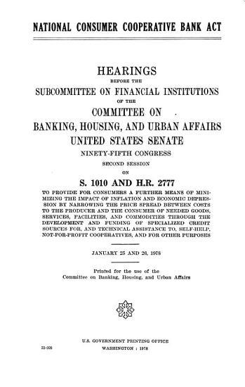 National Consumer Cooperative Bank Act PDF