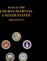 Manual for Courts Martial United States PDF