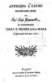 Antigona e Lauso: melodramma serio