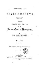 Pennsylvania State Reports: Volume 94