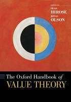 The Oxford Handbook of Value Theory PDF