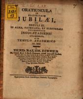 Oratiuncula in festivitate iubilaei ... 1772 in Universitate Ingolstadiensi celebrati