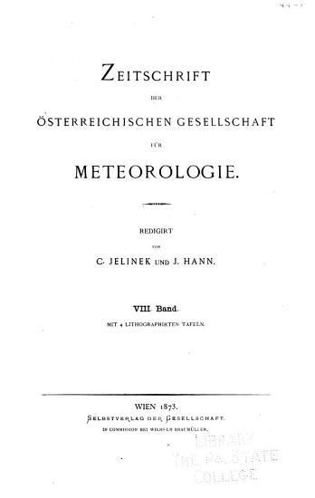 Zeitschrift der   sterreichischen gesellschaft f  r meteorologie     7 20bd PDF