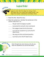 Read & Succeed Comprehension Level 1: Logical Order Passages and Questions