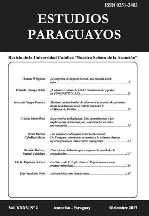 Revista Estudios Paraguayos Volumen 35  Numero 2   2017 PDF