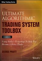 The Ultimate Algorithmic Trading System Toolbox   Website PDF