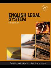 English Legal System Lawcards 6/e: Sixth Edition, Edition 6
