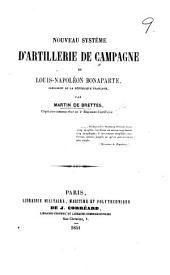 Nouveau Système d'Artillerie de Campagne de Louis Napoléon Bonaparte
