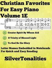 Christian Favorites for Easy Piano Volume 1 E