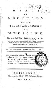 Heads of Lectures on the Theory and Practice of Medicine