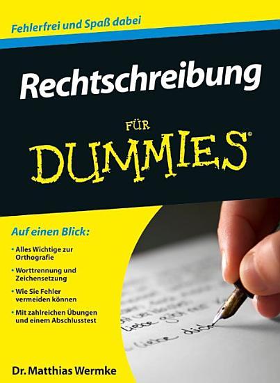 Rechtschreibung f  r Dummies PDF