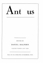 Antaeus Book PDF