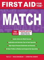 First Aid for the Match  Fifth Edition PDF