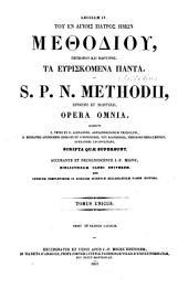 Methodii episcopi et martyris opera omnia