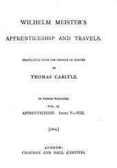Wilhelm Meister's Apprenticeship and Travels: Volume 2