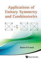 Applications of Unitary Symmetry and Combinatorics PDF