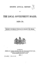Annual Report of the Local Government Board ...: Volume 8