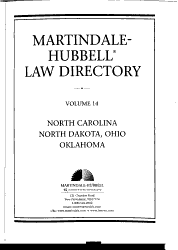 The Martindale Hubbell Law Directory Book PDF