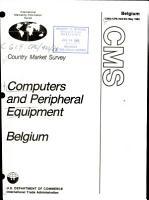 Computers and Peripheral Equipment  Belgium PDF