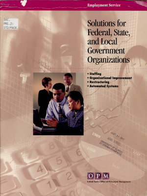 Solutions for Federal  State  and Local Government Organizations
