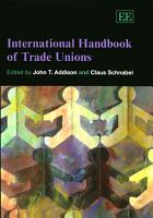 International Handbook of Trade Unions PDF