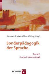 Sonderpädagogik der Sprache