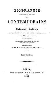 Biographie universelle et portative des Contemporains: ou Dictionnaire historique des hommes vivants et des hommes morts (de 1788 à 1828)