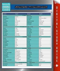 Spanish Vocabulary Speedy Study Guides Book