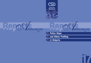 Police Stops and Ethnic Profiling in Bulgaria PDF