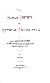 The German Pietists of Provincial Pennsylvania: 1694-1708, Page 1