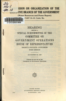 Commission on Organization of the Executive Branch of the Government PDF