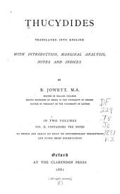 Thucydides Translated Into English: Volume 2