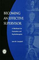 Becoming an Effective Supervisor