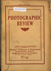 Photographic Review: A Journal Devoted to Photography, Volume 26, Issue 2