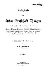 Geschichte des Thurgaus: Geschichte der alten Grafschaft Thurgau