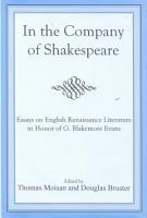 In the Company of Shakespeare PDF