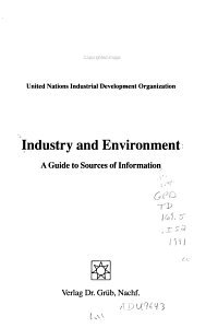 Industry and Environment PDF