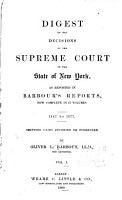 Digest of the Decisions of the Supreme Court of the State of New York PDF