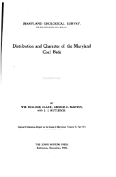 Distribution and Character of the Maryland Coal Beds