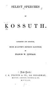 Select Speeches of Kossuth