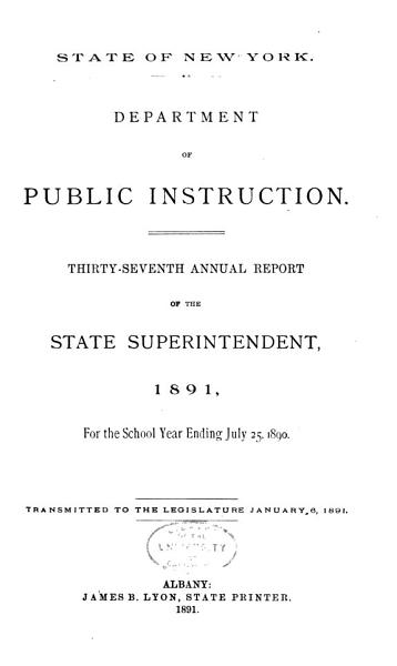 Download Annual Report of the State Superintendent of Public Instruction Book