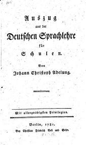 Auszug aus der deutschen Sprachlehre für Schulen
