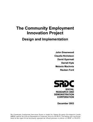 The Community Employment Innovation Project PDF