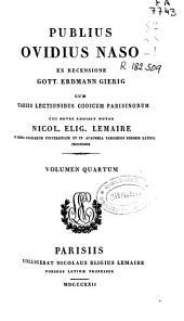 Publius Ovidius Naso ex recensione Heinsio-Burmanniana: Volume 4