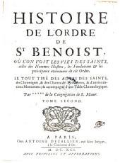 Histoire de l'ordre de St. Benoit ... par +++++ de la congregation de S. Maur: Volume2