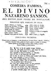 Comedia famosa: El divino Nazareno Sanson