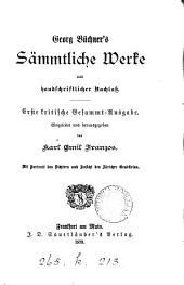 Georg Büchner's sämmtliche Werke und handschriftlicher Nachlass