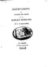 Osservazioni su la basilica fiesolana di S. Alessandro
