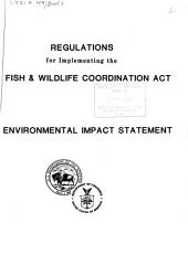 Regulations for implementing the Fish and Wildlife Coordination Act: draft environmental statement