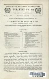 Land drainage by means of pumps